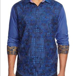 Robert graham pero blue limited edition shirt
